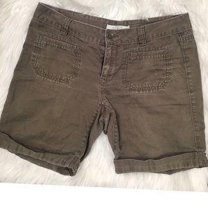Loft Army Green Shorts Size 2